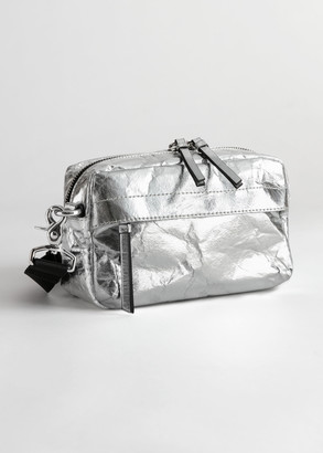 And other stories Metallic Textured Crossbody Bag