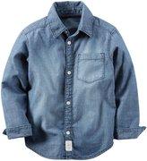 Carter's Denim Button Down Shirt (Toddler/Kid) - Denim - 4T