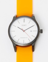 Matte Black-White & Orange Watch