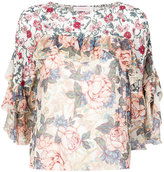 See by Chloe ruffled floral top - women - Viscose - 36