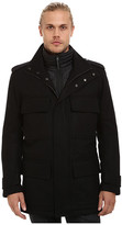 Andrew Marc Liberty Pressed Wool Car Coat w/ Removable Quilted Bib