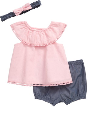 Little Me Swing Tunic, Bubble Shorts & Head Wrap Set