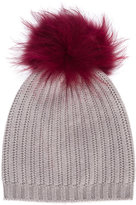 Yves Salomon Enfant fur trim beanie