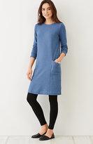 J. Jill Seamed Crew-Neck Knit Dress
