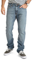 Nautica Straight Fit Crosshatch Denim Jeans