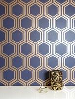 Arthouse Luxe Hexagon Navy & Gold Wallpaper