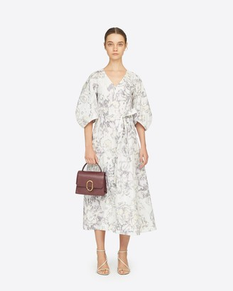 3.1 Phillip Lim Poplin Abstract Daisy Puff Sleeve Dress