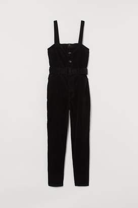 H&M Corduroy Bib Overalls - Black