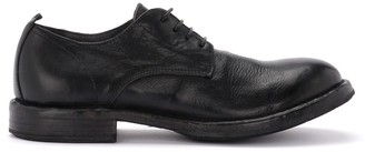 Moma Cusna Lace-up Shoe In Black Leather