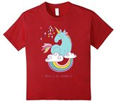 Magic is all around us Unicorn Rainbow T-Shirt Girls Kids