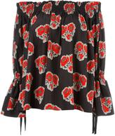 Alexander McQueen poppy print blouse - women - Cotton/Viscose - 40