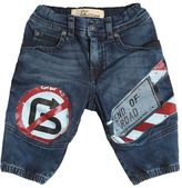 John Galliano Street Signs Printed Stretch Denim Jeans