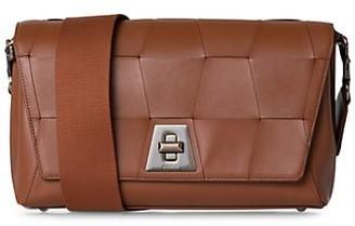 Akris Anouk Day Woven Leather Crossbody Bag