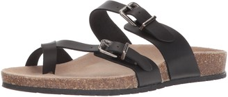 Sugar Women's SGR-XPORTER Flat Sandal Black Smooth 7 M US