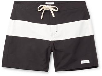 Saturdays NYC Grant Mid-Length Colour-Block Swim Shorts - Men - Black