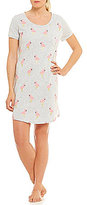 Sleep Sense Flamingo-Print Jersey Sleepshirt