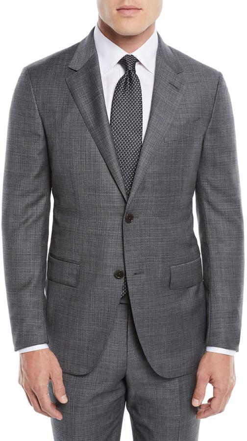 Ermenegildo Zegna Men's Heathered Solid Two-Piece Suit