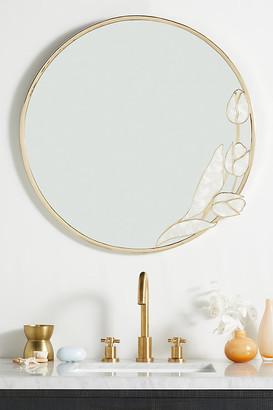 Anthropologie Capiz Tulip Mirror By in Gold Size M