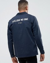 Pull&Bear Worker Jacket In Navy