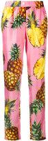 Dolce & Gabbana pineapple print trousers - women - Silk - 40