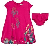 Catimini Pink Jersey Floral Print Dress with Briefs