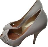 Giuseppe Zanotti Grey Leather Heels