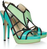 Burak Uyan Color-block cutout leather sandals