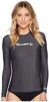 O'Neill Basic Skins L/S Crew (Graphite) Women's Swimwear