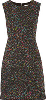 Diane von Furstenberg Carrie Two stretch-cady and bouclé-tweed dress