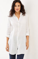 J. Jill Linen Button-Front Tunic