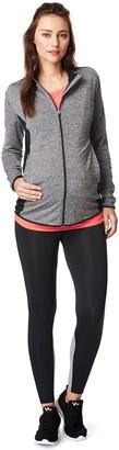 Noppies Women's Maternity Damen Sports Jacket Floortje Grey Melange