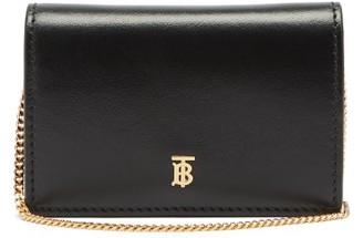 Burberry Jessie Tb-logo Leather Wallet - Black
