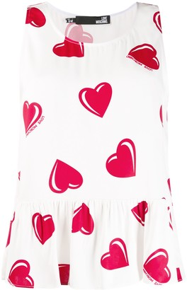 Moschino Pre Owned 2000's Heart Printed Blouse