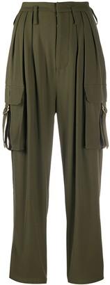 Balmain High-Waisted Cargo Trousers
