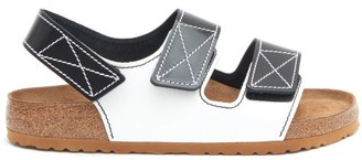 Birkenstock x Proenza Schouler X Proenza Schouler Milano Leather Sandals - Black White