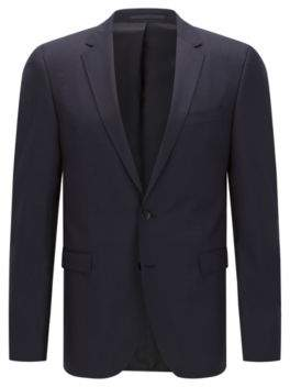 BOSS Hugo Italian Wool Sport Coat, Extra Slim Fit Ryan CYL 42S Dark Blue