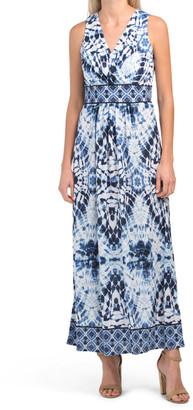 Print Knit Gauze Maxi Dress
