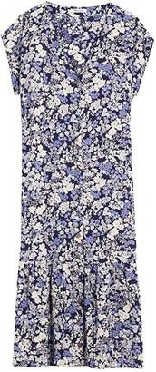 Madewell Short Sleeve Printed Midi Dress (Packed Floral Fresh) Women's Dress