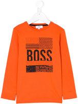 Boss Kids long-sleeved logo T-shirt
