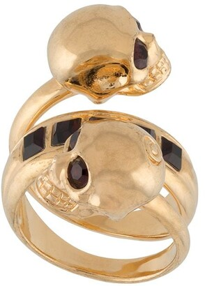 Alexander McQueen Double Skull Ring