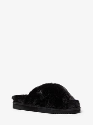 MICHAEL Michael Kors Lala Faux Fur Slide Sandal