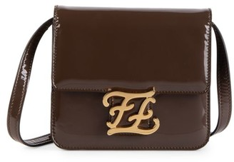 Fendi Karligraphy Patent Leather Crossbody Bag