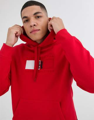 Tommy Hilfiger x Lewis Hamilton Capsule chest flag logo hoodie in red
