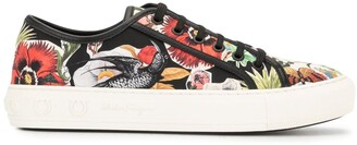 Salvatore Ferragamo Floral Print Sneakers