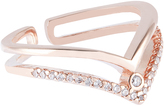 Accessorize Rose Gold Double Wishbone Ring