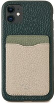 Thumbnail for your product : Mulberry iPhone 11 Case With Credit Card Slip Green, Cambridge Green and Chalk Heavy Grain