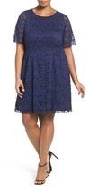 Vince Camuto Plus Size Women's Lace Fit & Flare Dress