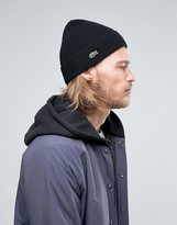 Lacoste Wool Beanie In Black