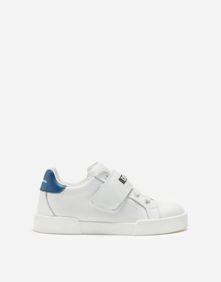 Dolce & Gabbana Calfskin Portofino Light Sneakers With Logo