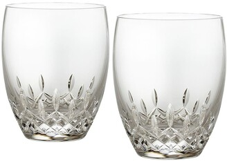 Waterford Lismore Essence Set of 2 Lead Crystal Double Old-Fashioned Glasses
